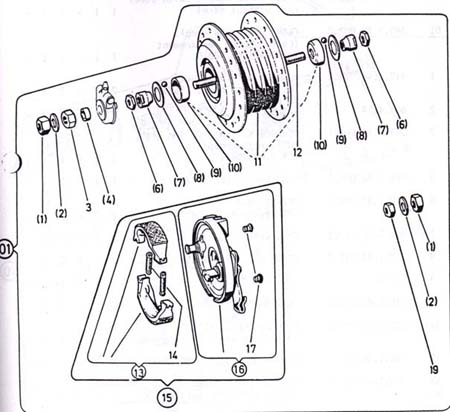 Diagram Reference #P11 -  Puch Front Wheel & Parts