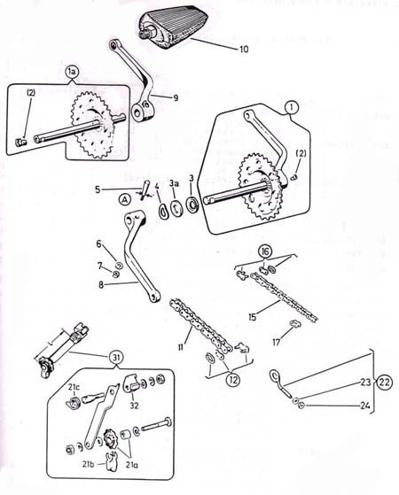puch pedals & crank parts  (2 Subcategories)