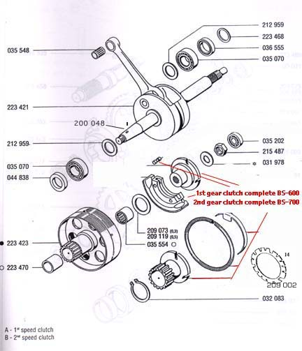 a35  a55 tomos transmission  4 subcategories