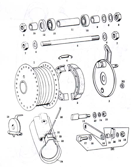 tomos a3 spoke front wheel parts ref  diagram t11a