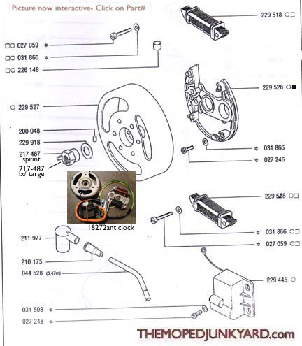 TOMOS A35 CDI (ELECTRONIC) Ignition Parts 93-99