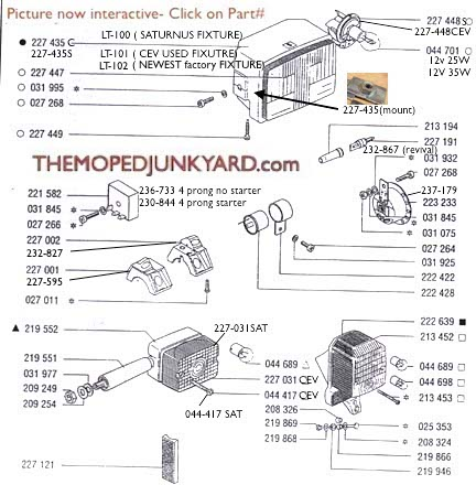 TOMOS A35-A55 Electrical Parts Diagram Ref. T9b on