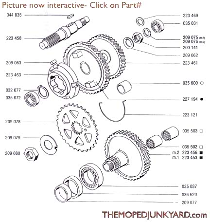 tomos a35 a55 transmission 4 subcategories rh mopedjunkyard com V8 Engine Diagram tomos a35 engine diagram