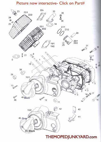 a55 engine parts rh mopedjunkyard com Basic Engine Diagram tomos moped engine diagram
