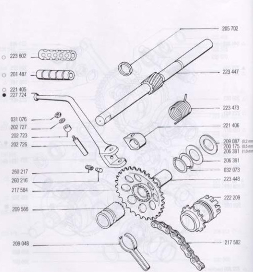 a35  a55 kickstart parts