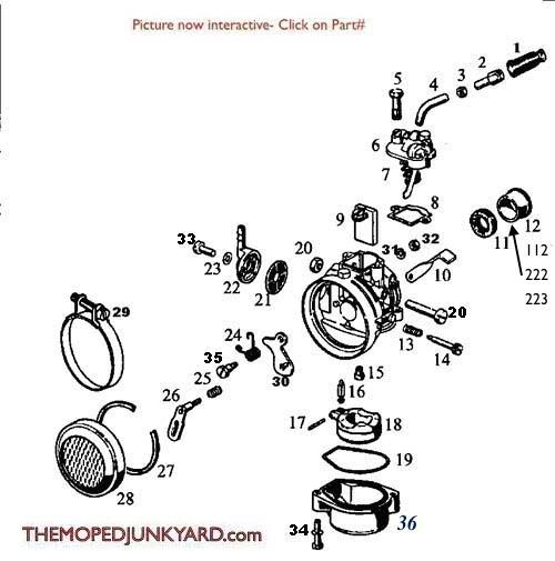 dellorto carb rh mopedjunkyard com dellorto 15.15 sha manual Dellorto Choke Lever