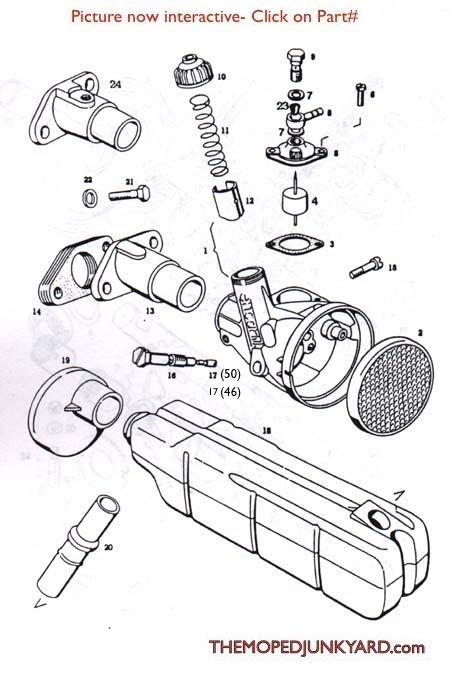 tomos a3  encarne  encarwi  carb parts diagram ref