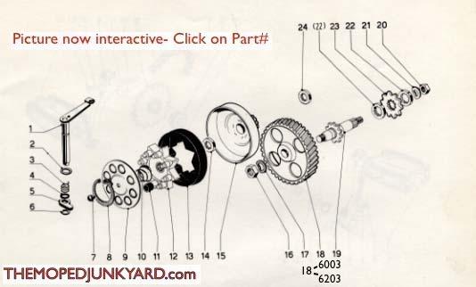 garelli clutch parts