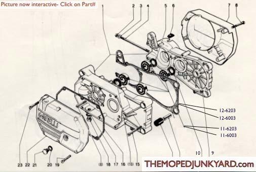 garelli transmission parts