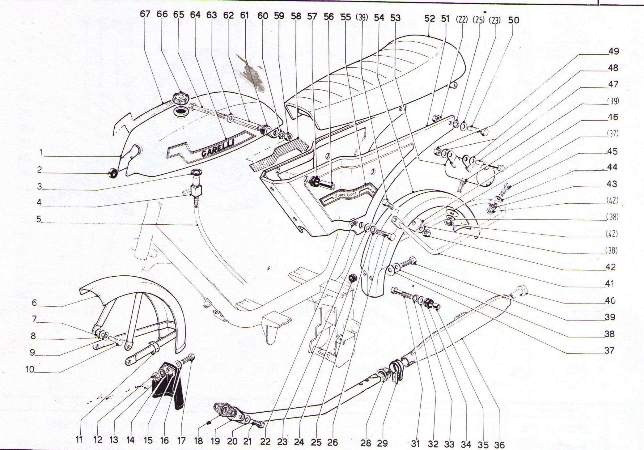 garelli frame parts  2 subcategories