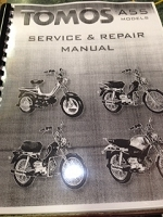 Tomos A55 Service book- NEW