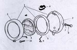 Motobecane    Headlights    Ref    Diagram    MB13a