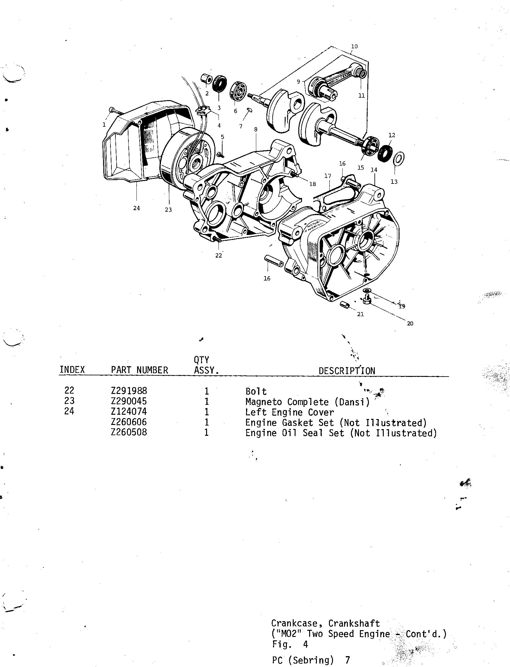 07-CRANKCASE, CRANKSHAFT, M02 TWO SPEED ENGINE