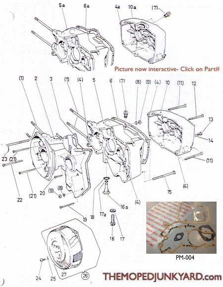 puch za50 2 speed case parts rh mopedjunkyard com BMW Wiring Diagrams Light Switch Wiring Diagram