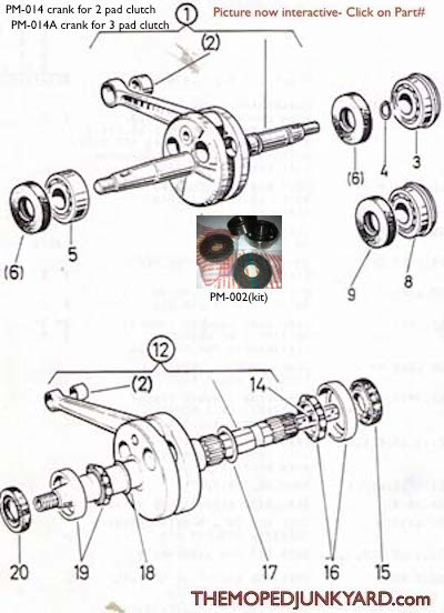 diagram reference p3 puch engine seals bearing