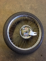 Puch Rear wheel complete (17 x 2 1/4 rim) with rubber