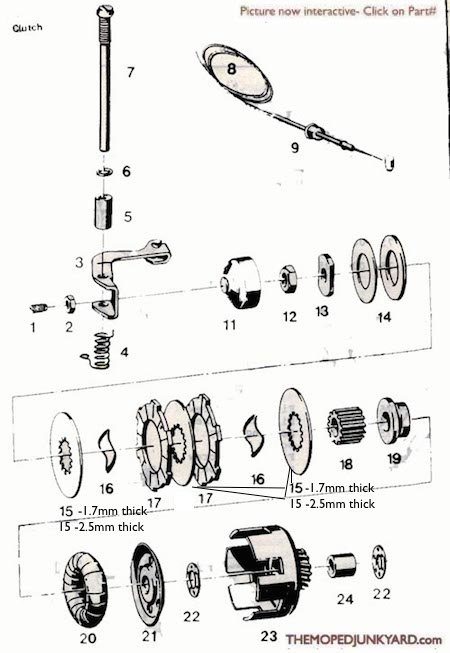 sachs clutch rh mopedjunkyard com Electric Scooter Wiring Diagrams Motor Scooter Wiring Diagrams