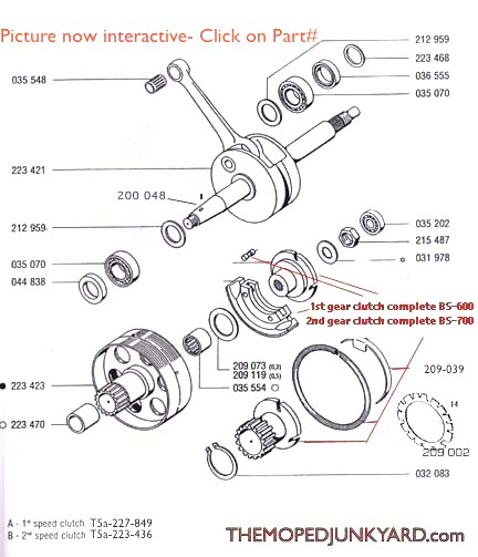 diagram reference t5a tomos a35 a55 transmission clutches rh mopedjunkyard com tomos moped engine diagram Tomos Motorcycle