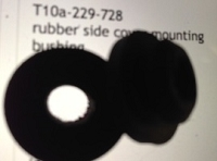 rubber side cover mounting bushing