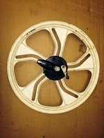 WHEEL COMPLETE A35 front white (USED)