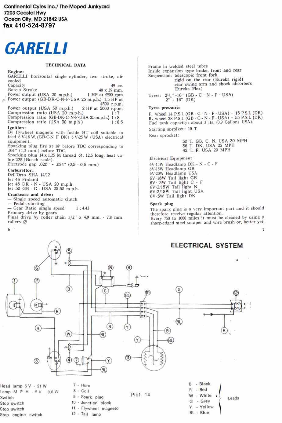 Garelli Wiring Diagram | Wiring Diagram on