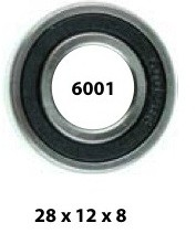 wheel bearing 6001RS