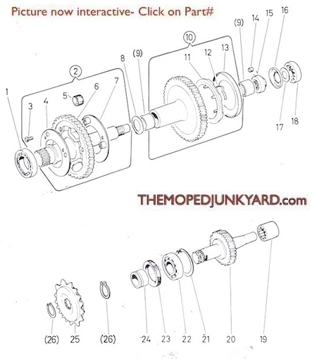 Diagram Reference #P10c - Puch 2 Speed Secondary Shaft