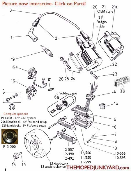 Diagram Reference #P13 - Puch Ignition- Parts