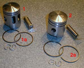 Tomos Pistons & Rings A3/A35/A55