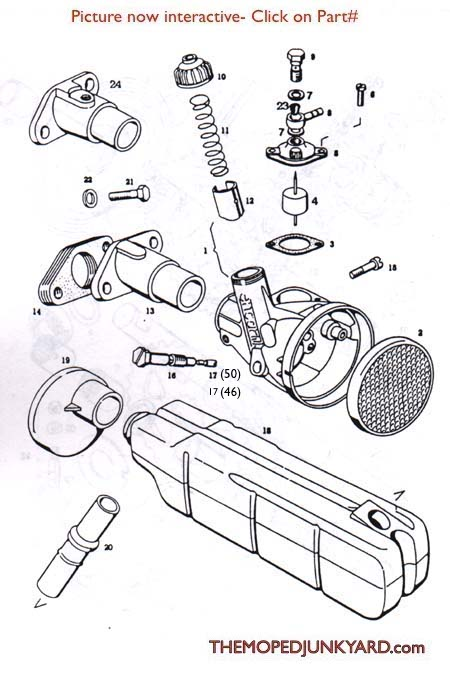 TOMOS A3 (ENCARNE/ENCARWI) Carb Parts Diagram Ref -T7a