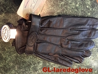 Comfort gel cowhide glove