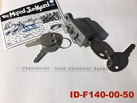 Indian (MERIDA) fork lock  with 4 keys