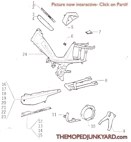 motobecane frame parts (6 Subcategories)