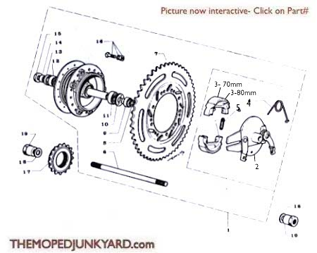 Motobecane Rear Hub Ref. Diagram MB11b