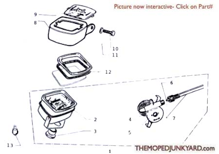 Motobecane Speedometer Parts Ref. Diagram MB12c