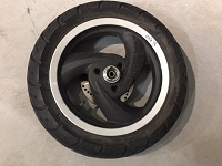 USED TOMOS NITRO Front WHEEL COMPLETE W/Rubber and disk