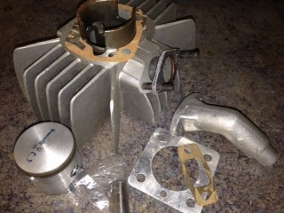 Derbi 43mm Autisa cylinder kit  approx 65cc