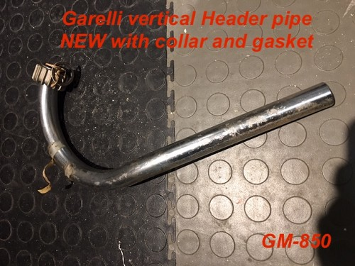 Garelli vertical Header Pipe with collar and gasket (OEM NEW)