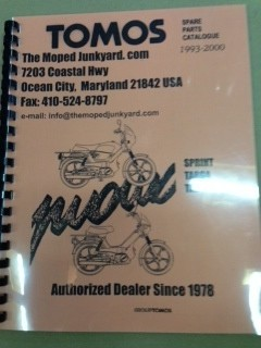 Tomos A35 parts book  early A35- NEW