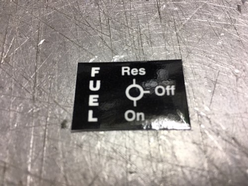"""on/off/reserve"" decal"
