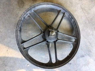 WHEEL COMPLETE A35 front Black  (USED)