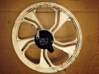 USED  COMPLETE A35 rear  Wheel 90 mm hub (WHITE)